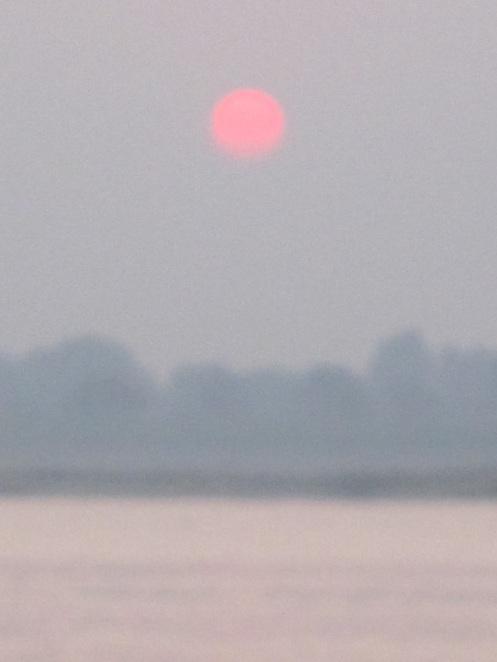Sun rises on 2013