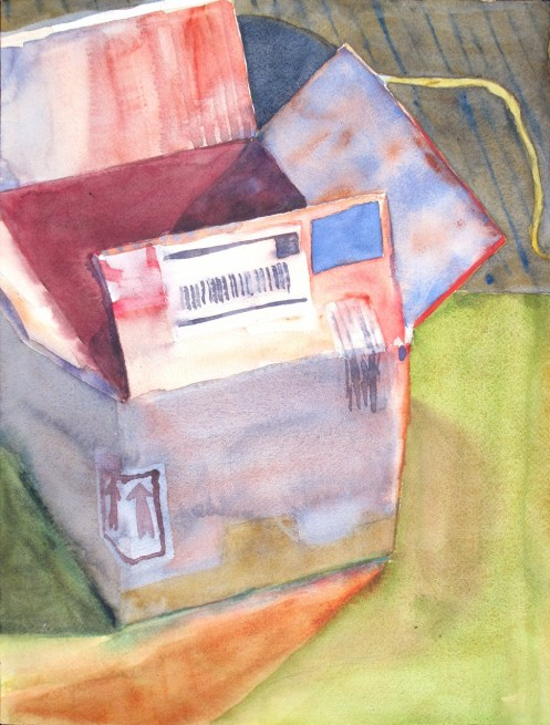 Collecting customer data: filling the box, or opening Pandora's Box? --Watercolor by Charles Plaisted