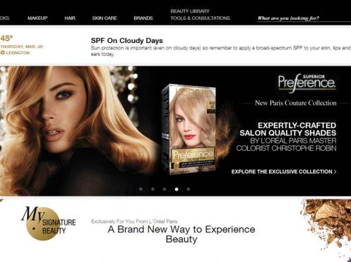 Lorealparisusa uses RichContent from RichRelevance to personalize  content.